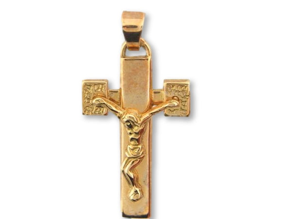 19.2K Portuguese Gold Solid Crucifix