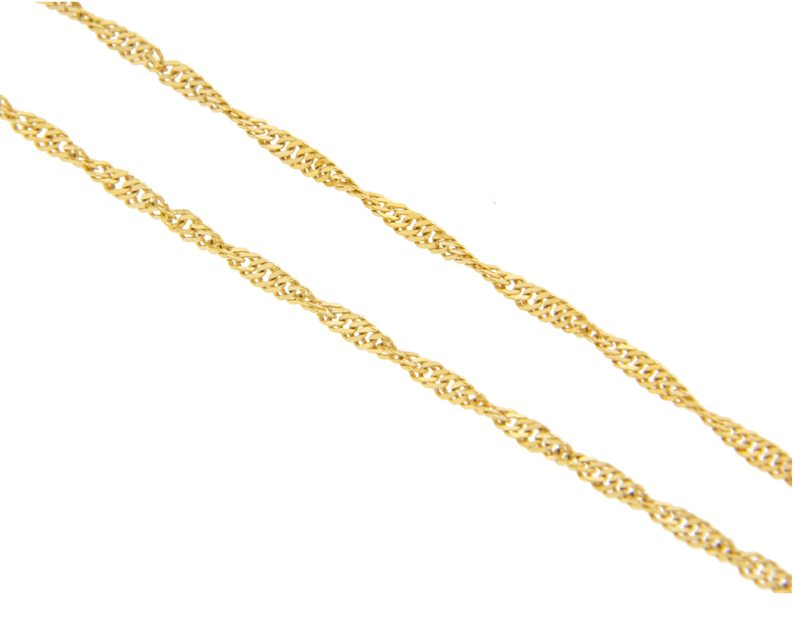 Singapore2.2mm - 19.2kt Portuguese Gold Solid Singapore Chain (2.2mm thickness) - Columbia Jewelers, Fall River, Massachusetts, USA