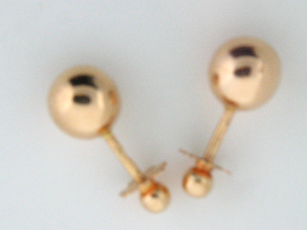 TORROSCA - 19.2k Gold Stud Ball Earrings (Screw-Back) - Columbia Jewelers, Fall River, Massachusetts, USA