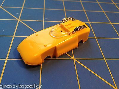 Yellow Harvey American Line T-Jet body HO Aurora slot from  Mid America Raceway