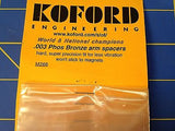 KOFORD M266 .003 Bronze Armature Spacer 12 pack 1/24 slot  Mid-America Raceway