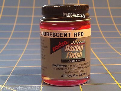 Pactra RC77 Flour Neon Red Lexan Paint  2/3 oz Mid America