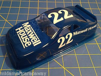 Painted 4 inch Stock Car #22 Maxwell House  1/24 from MidAmerica Raceway