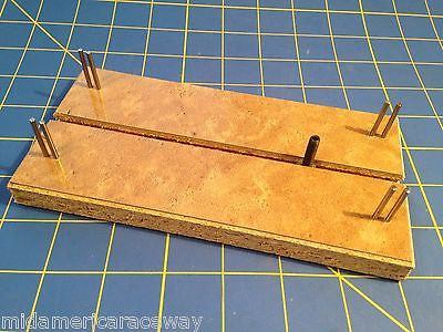 "Lucky Bob's Formica 7"" Chassis Jig LB1010 for 1/24 Slot car Mid America Raceway"