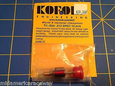 Koford M468-15 Spec 15 armature .518 40° 1/24 Slot Car  Mid-America Raceway