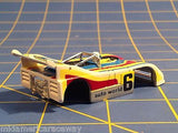 AURORA HO # 6 slot car body w Auto World on sides and # 6 on hood AUR B 1111sp