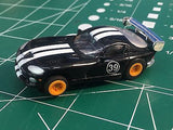 Black Viper by Johnny Lighting w/ Tomy Turbo chassis from Mid America Raceway