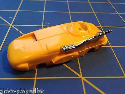 Yellow Willard American Line T-Jet body HO Aurora slot from  Mid America Raceway