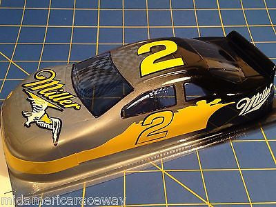 Painted 4.5 inch Stock Car #2 Miller  1/24 from MidAmerica Raceway