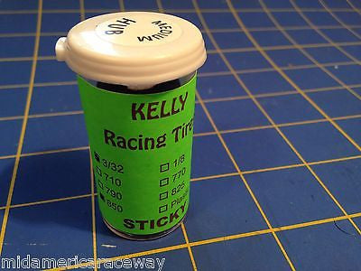 Kelly Stickies Treated 3/32 .850 Medium Hub Tires 1/24 from Mid America Raceway