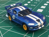Blue Viper by Johnny Lighting w/ Tomy Turbo chassis from Mid America Raceway