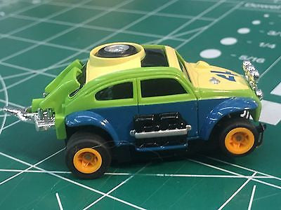 Green Baja Bug by Johnny Lighting Tomy Turbo chassis from MidAmerica Raceway
