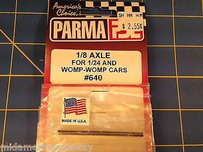 "Parma 1/8"" Drill Blank Axle - 2.25"" Wide - 1 Pc - #640S  Mid America Raceway"