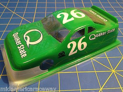 Painted 4 inch Stock Car #26 Quaker State  1/24 from MidAmerica Raceway