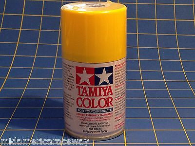 Tamiya PS-6 Yellow Polycarbonate Spray Can 3 oz Paint # 86006 Mid-America