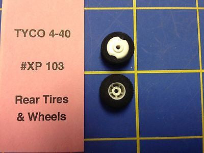 Tyco 440X2 Rear Tires and Wheels Ho Slot car HXP103 Mid America Raceway