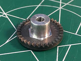 Cox 18033 1/8 axle 48 Pitch 33 Tooth Crown Gear 1/24 slot Mid America Raceway