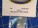 WRP T-82 Stainless Steel Tubing Full Pack .082 10 Pieces Drag slot car 1/24