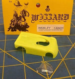 NEW Fl Yellow WIZZARD STORM made in USA HO Slot Car Replacent Snap Fit Hard Body
