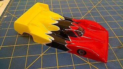 JK Trimmed & Painted Body Mazda Red / Yellow 1/24 slot car body Mid America