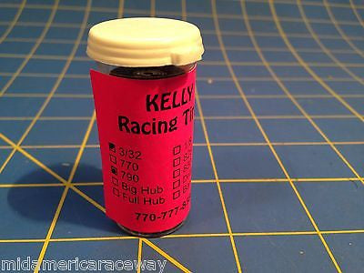Kelly Pink 2x Treated 3/32 .790 Small Hub Tires 1/24 from Mid America Raceway