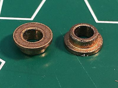 1 pair 1/8 x 3/16 Flanged Axle Oilite Bushings 1/24 slot car Mid America raceway
