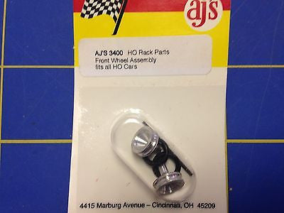 Aurora AFX AJ'S ALUMINUM FRONT FUNNEL WHEELS MIB NOS LOOK GREAT Mid-America
