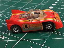 AURORA AFX MT #1915 red #6 PORSCHE AUDI 510K CAN-AM SLOT CAR  MidAmerica Raceway