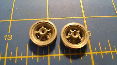 Vintage 5 spoke Magnesium fronts 1/16 axle NOS 1/24 slot car Mid-America