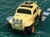 Tan Baja Bug by Johnny Lighting Tomy Turbo chassis from MidAmerica Raceway