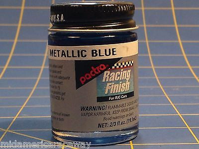 Pactra RC65 Metallic Blue Lexan Paint 2/3 oz MidAmerica