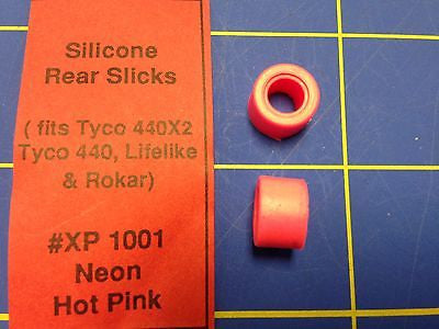 Silicone Tires Neon Pink fit Tyco 440 440x2 Lifelike HXP 1001 Mid-America