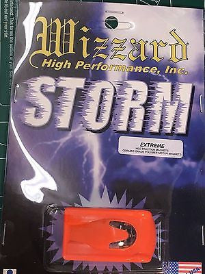 Wizzard Storm Extreme Flourescent Orange Hardbody HO slot car Mid America Racewa
