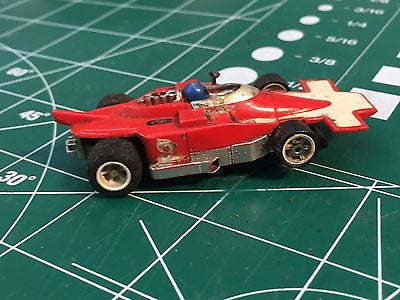 Aurora AFX Red White Indy G Plus chassis HO SLOT CAR  MidAmerica Raceway