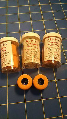 Alpha A3 3 Pairs 13/16 tall 3/32 axle Orange Colored Rubber from Mid America