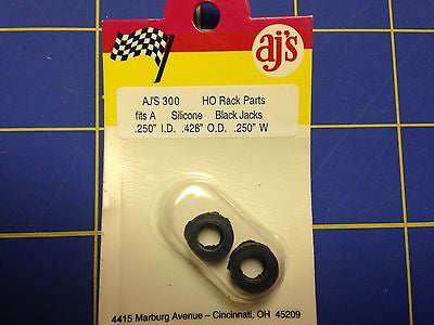 AJ'S 300 Silicone Black Jacks Tires TYCO HP7 Tomy AFX Turbo Aurora Magnatraction