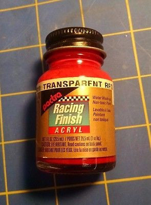 Pactra RC5304 Trans Red 1 oz Acrylic Racing Finish Polycarbonate Lexan Paint