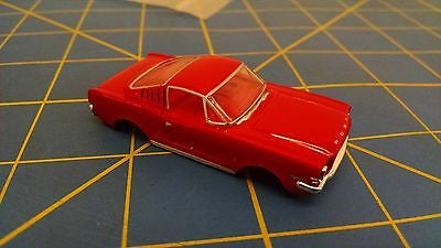 Red '65 Mustang 2+2 Fastback T-Jet HO Body Mid America AWC B69-02