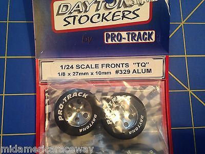 Pro Track 329 Front  Daytona Stockers 27mm 10mm Tires 1/8 axle Mid America