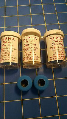 Alpha A4 3 Pairs 13/16 tall 3/32 axle Blue Colored Rubber from Mid America