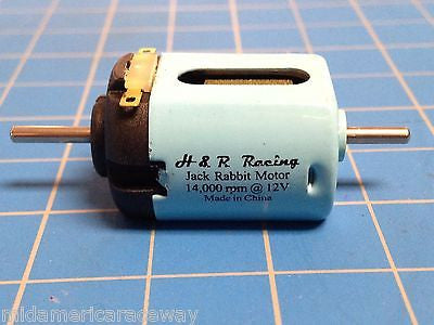 H&R HRMJR1 Jack Rabbit Motor 14k RPM w/double end shaft from Mid America Raceway