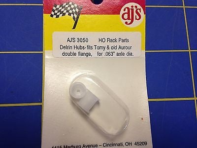 AJ'S 3050 Delrin Hubs for Tomy, Old Aurora Double Flange .063 axle