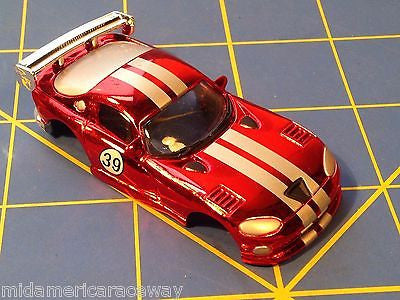 Candy Red  w/ White Stripes Dodge Viper GTS American Line Body HO AML B450-cr