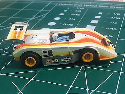 Vintage Aurora AFX Shadow Can Am No.3  w/ Tomy Turbo chassis Mid America Raceway