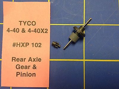 Tyco 440X2 Rear Axle Gear and Pinion Ho Slot car HXP102 Mid America Raceway