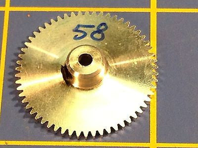 Sonic 3/32 axle 64 Pitch 58 Tooth Aluminum Drag Spur Gear Mid America Raceway