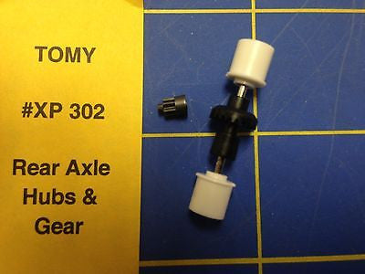 Tomy AFX Rear Axle Hubs and Gears Ho Slot car HXP 302 from Mid-America Raceway