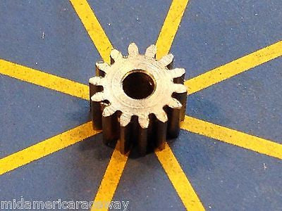 Sonic 64 Pitch 13 Tooth Drag Pinion Gear from Mid America Raceway 1/24 slot car