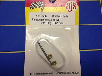 AJ'S 2500 Front Threaded axle 1 inch w/ nuts 0-80 from Mid-America Raceway