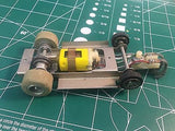 #4 Cox Cucaracha chassis 1/32  SLOT CAR  from MidAmerica Raceway